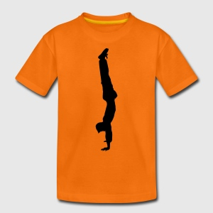 handstand gymnast sport Kinder T-Shirts - Teenager Premium T-Shirt