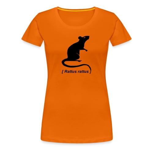 Frauen Shirt Ratte Maus Nagetier Nager Rattus Tiershirt Shirt Tiermotiv - Frauen Premium T-Shirt