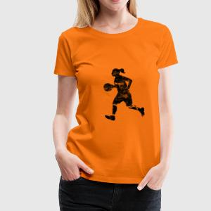 Basketball Girl (used look) T-Shirts - Frauen Premium T-Shirt
