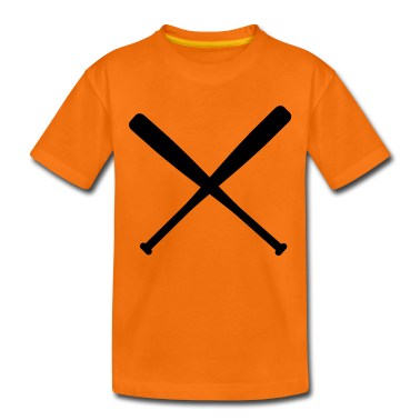 baseball bat crossed Kids' Shirts