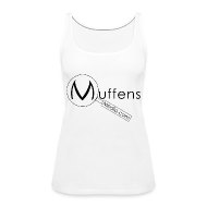 Tops ~ Women's Premium Tank Top ~ Muffens Media singlet: White