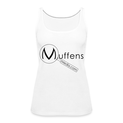 Muffens Media singlet: White - Women's Premium Tank Top