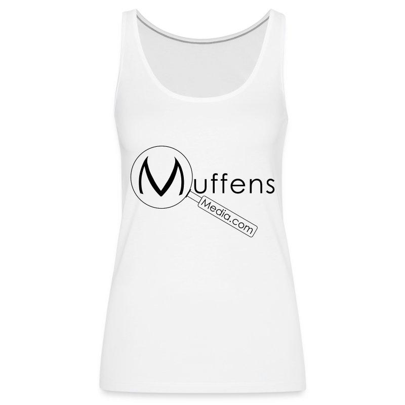 Muffens Media singlet: White - Women's Premium Tank Top