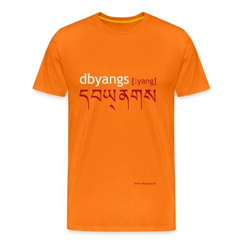 dbyangs Herren T-Shirt orange weiß/dunkelrot - Männer Premium T-Shirt