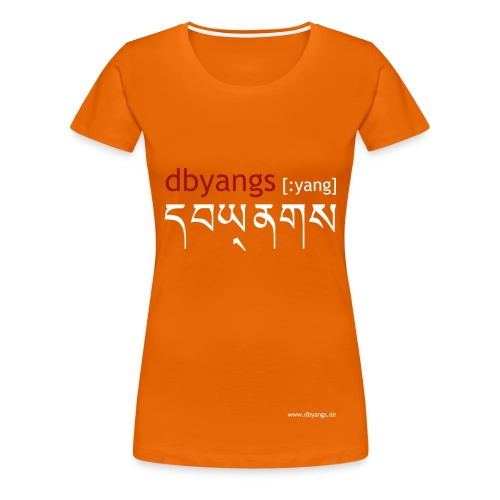 dbyangs Damen T-Shirt orange rot/weiß - Frauen Premium T-Shirt