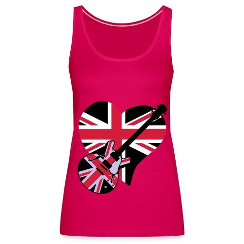 UK MUSIC VEST TOP FEMALE - Women's Premium Tank Top