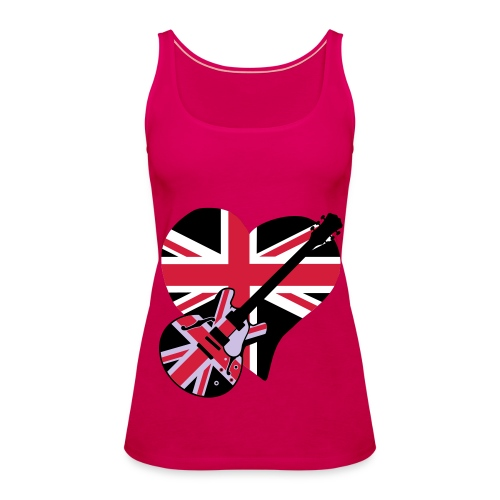 UK MUSIC VEST TOP FEMALE - Women's Premium Tank Top