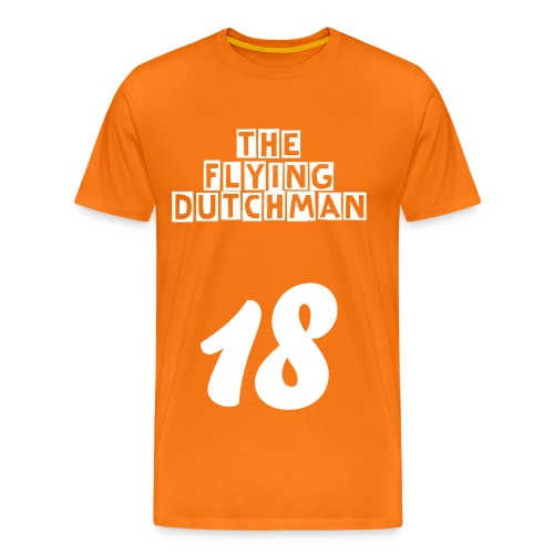 Men's Premium T-Shirt - orange,netherlands,liverpool,kop,holland,hillsbrough,feyenoord,dutch,dirk kuyt,dirk,anfield,96