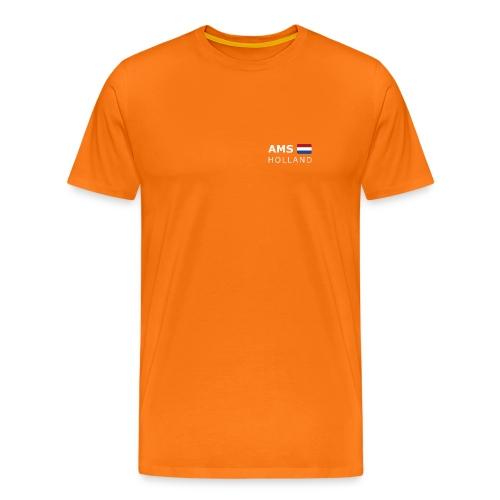 Classic T-Shirt AMS HOLLAND white-lettered - Men's Premium T-Shirt