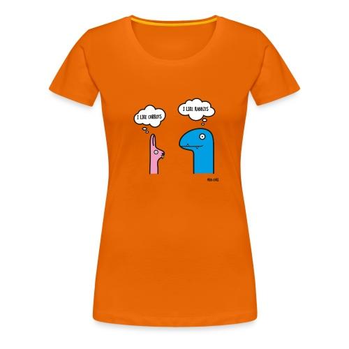 Fred & Earl - Like Carrots - Frauen Premium T-Shirt