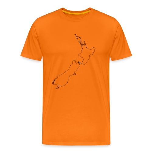 New Zealand Map Inside Empty T-Shirt - Männer Premium T-Shirt