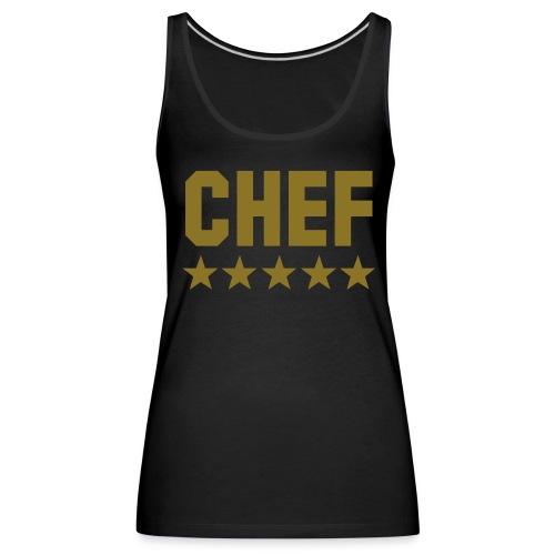 chef - Tank top damski Premium
