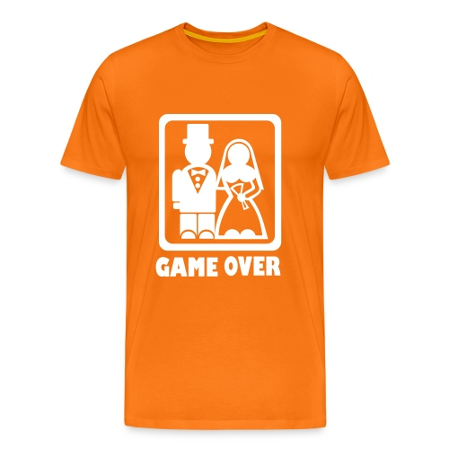 Game Over Wedding T-Shirt - Mannen Premium T-shirt