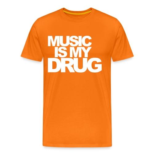 Music is my drug! - Koszulka męska Premium