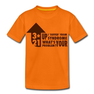 KidsT-shirt 3*21 Up Syndrome Orange - Teenage Premium T-Shirt