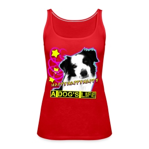 Happy rotes Tank Top - Frauen Premium Tank Top