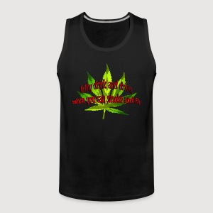 Why drink and drive, when you can smoke and fly | Männershirt ärmellos - Männer Premium Tank Top