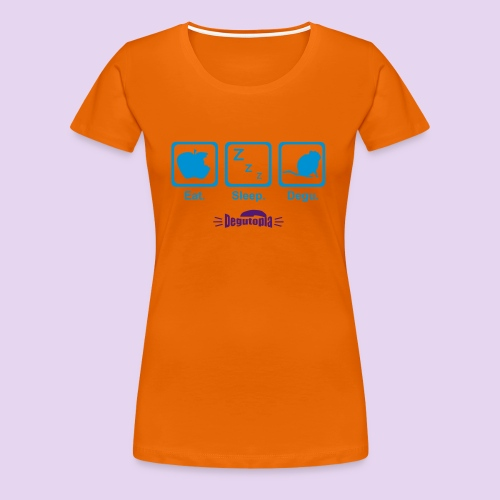 Eat. Sleep. Degu. Ladies' Tee - Women's Premium T-Shirt
