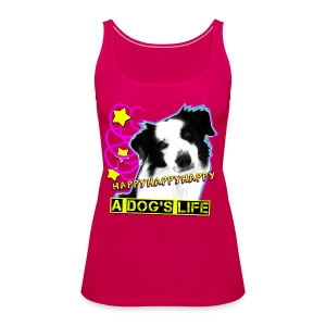 Happy pinkes Tank Top - Frauen Premium Tank Top