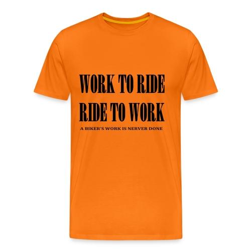 Ride to work - T-shirt Premium Homme