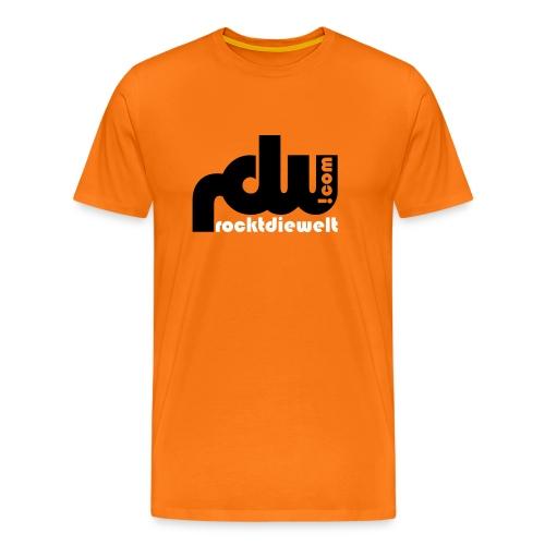 Basis T-Shirt - rdw Logo / orange - Männer Premium T-Shirt