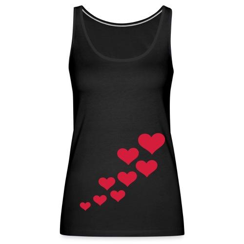 hearts getting bigget vest top - Women's Premium Tank Top