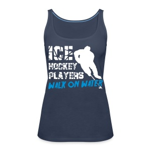 Ice Hockey Players Wak on Water Women's Vest Top - Women's Premium Tank Top