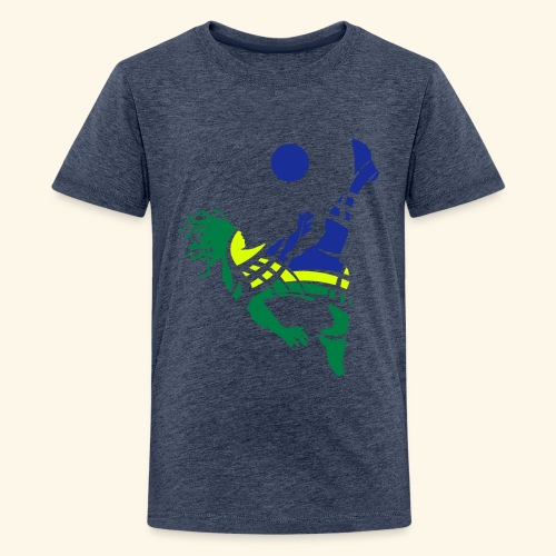 Brazil soccer - Teenage Premium T-Shirt