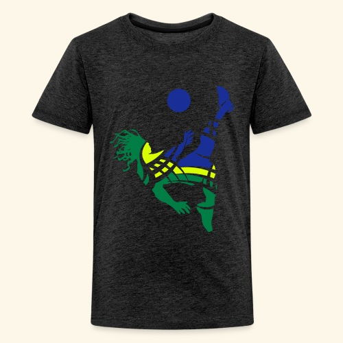 Brazil soccer - Teenage Premium T-Shirt