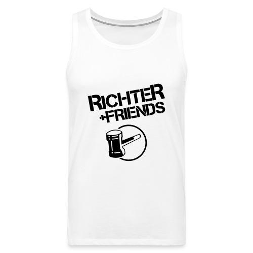 RICHTER+FRIENDS - Muscle, white - Männer Premium Tank Top