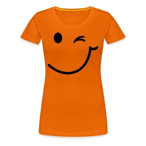 Smiley orange - Frauen Premium T-Shirt