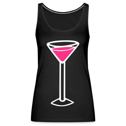 Martini black - Vrouwen Premium tank top