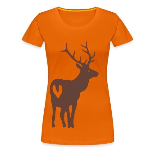 shirt t-shirt hirsch geweih elch jäger jagd junggesellenabschied - Frauen Premium T-Shirt