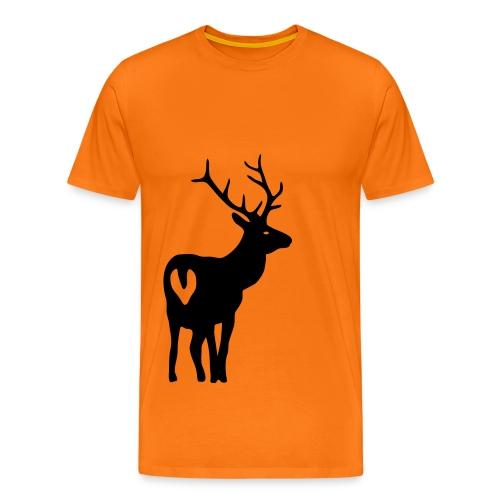 shirt t-shirt hirsch geweih elch jäger jagd junggesellenabschied - Männer Premium T-Shirt