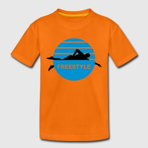 Freistil Schwimmen | Kindershirt - Teenager Premium T-Shirt
