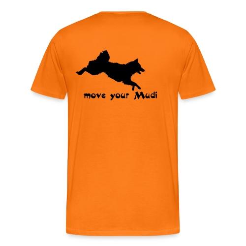 Move your Mudi black orange - Men's Premium T-Shirt