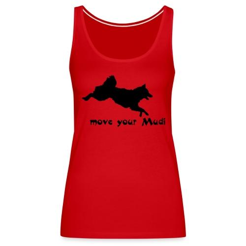 Move your Mudi Black red - Women's Premium Tank Top