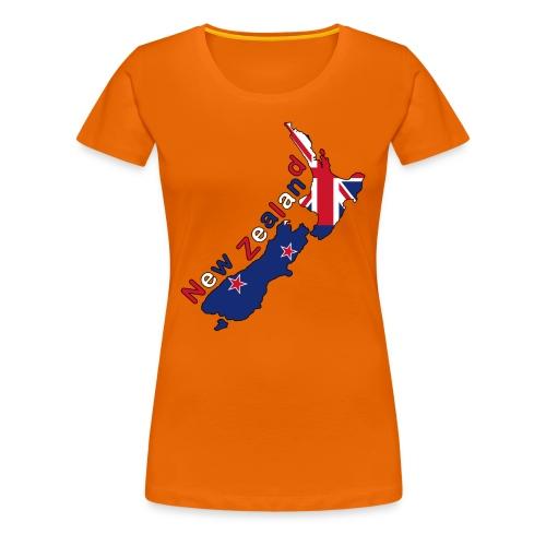 Frauen Girlieshirt Neuseeland Flagge - Frauen Premium T-Shirt
