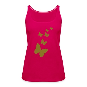 gold butterflies - Women's Premium Tank Top
