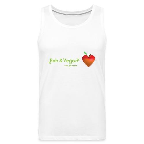 Roh & vegan von ganzem Herzen (Rohkost vegane T-Shirts) - Männer Premium Tank Top
