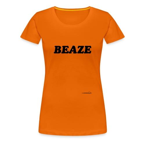 Beaze (zwarte opdruk) - Vrouwen Premium T-shirt