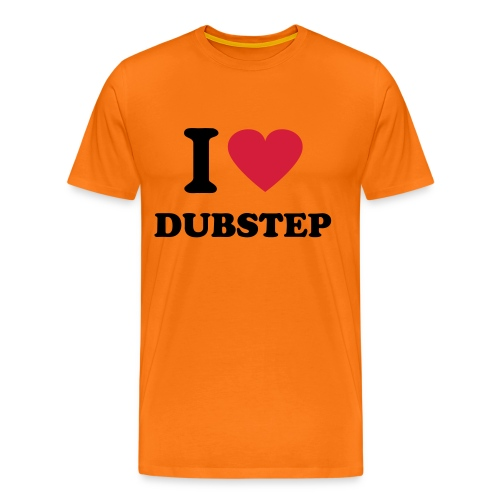 Herre premium T-shirt - ORANGE,LOVE,I,DUBSTEP