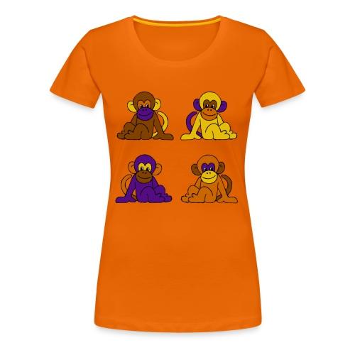 vier Monkeys - Frauen Premium T-Shirt