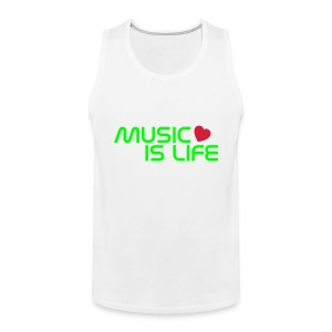 Music is life - Heren - Mannen Premium tank top