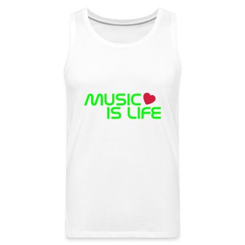 Music is life - Heren - Mannen Premium tank top