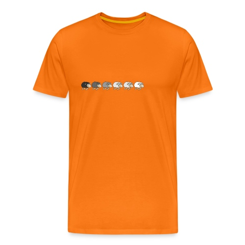 Black to white - Männer Premium T-Shirt
