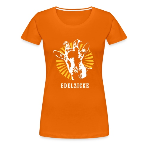 Edelzicke Orange - Frauen Premium T-Shirt