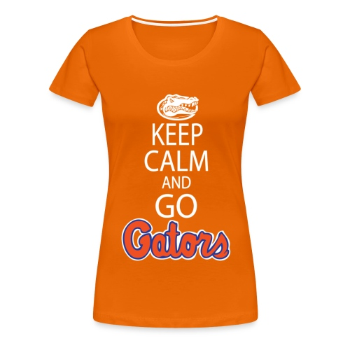 Keep Calm, *No Gator Club logo*  (color choice) (Women's) - white lettering - Women's Premium T-Shirt