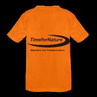 T-Shirts ~ Teenager Premium T-Shirt ~ TimeforNature T-Shirt für Kid's  mit Logo rückseitig