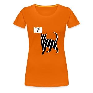 Zebra kissa myyttinen eläin, lumoa hyvin kyseenalainen T-paidat - Frauen Premium T-Shirt